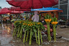 Quang Ba flower market in the rain