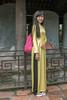 Vietnamese woman at the Stelae of Doctors (turtle stelae), Temple of Confucious, Hanoi, Vietnam