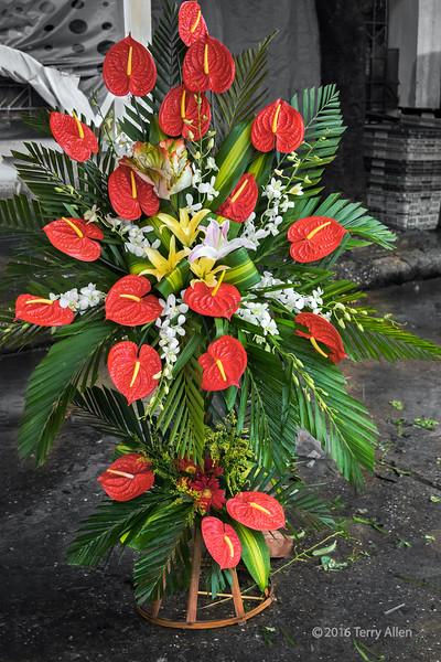 Bouquet of flowers at the Quang Ba flower market, Hanoi, Vietnam