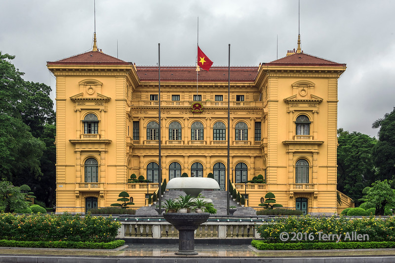 Neoclassical Beaux-Arts Presidential Palace, Hanoi, North Vietnam
