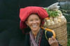 Woman with corn and black umbrella, Sa Pa, Vietnam
