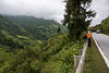 The road from Lao Cai to Sa Pa with rice terraces, Vietnam