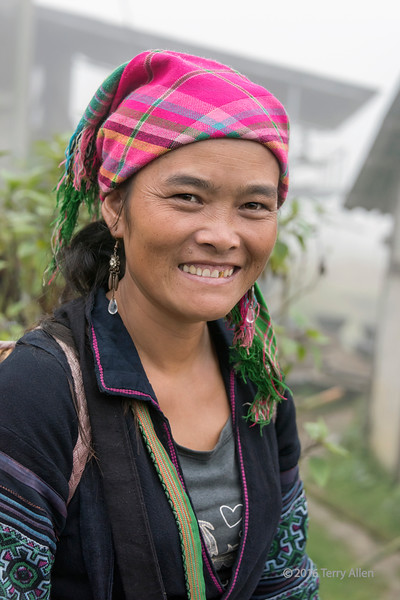 Smiling Hmong woman