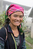 Smiling Hmong woman