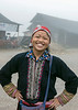 Laughing Red Dao woman on a rainy day, Sa Pa, Vietnam