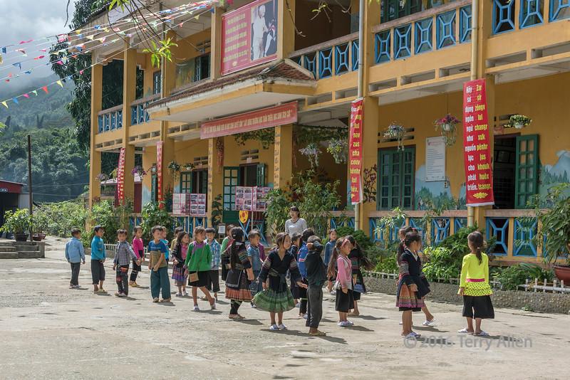 Ta Van village school, donated by Japan, Ta Van, Sa Pa, north Vietnam