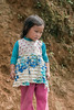 Shy little girl, Ta Van valley, Sa Pa, north Vietnam