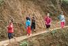 Curious children on a hill, Ta Van valley, Sa Pa, north Vietnam