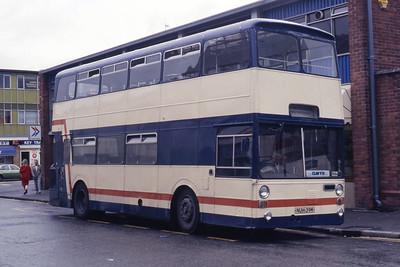 Roberts Cefn Mawr NUH39M Wrexham Bus Station Oct 87
