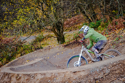Autumn in the UK, Revolution Bike Park, Llangynog, Wales