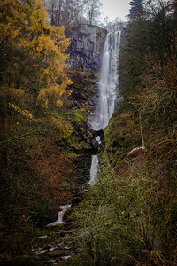 Autumn in the UK, Pistyl Rhaeadr waterfall, Powys, Wales
