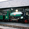 One of two ex-Penrhyn Quarry locomotives to operate on the Ffestiniog Railway, Linda was purchased in 1962 and is seen here at Porthmadog station.