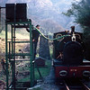 No. 4 Edward Thomas taking water at Dolgoch.  This process must have been photographed countless times over the years!