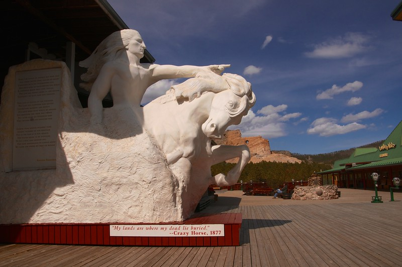 What the finished monument will look like -- Crazy Horse Monument, SD
