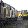 37 graveyard. 415, 696, 428, 410 and 411 sit awaiting disposal at Booths on 16th Feb 2013