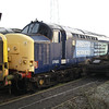 Recently delivered from RVEL Derby, 37683 is at Booths on 16th Feb 2013
