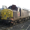 37416 sits awaiting disposal at Booths on 16th Feb 2013