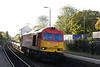 close up shot of 60063 <br /> <br /> easing through Huyton after a signal check hauling 6E14 Seaforth - Tinsley steel emptys