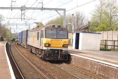 92 024  in the platform at Patricroft