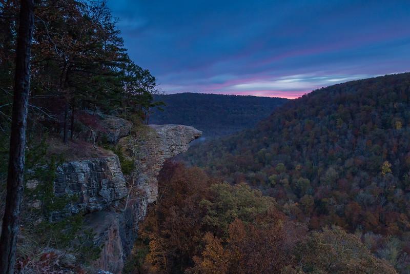 First Light at Hawksbill Crag