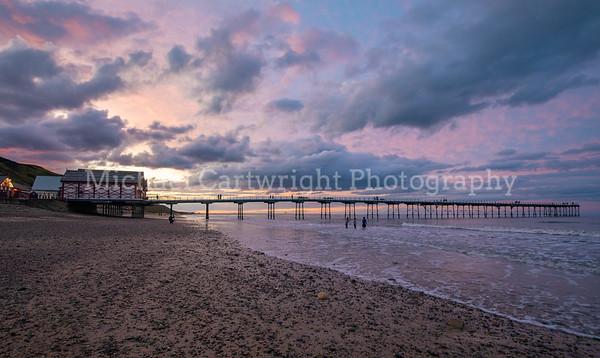Sunset On the Beach, Saltburn