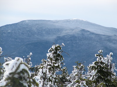 Mt. Moosilauke's lofty summit seen behind Mt. Blue