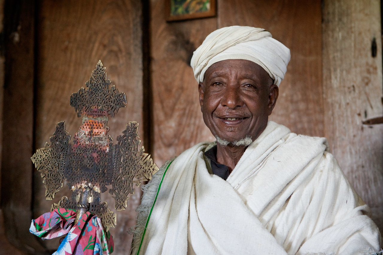 The priest at the Debre Maryam Monastery - Lake Tana
