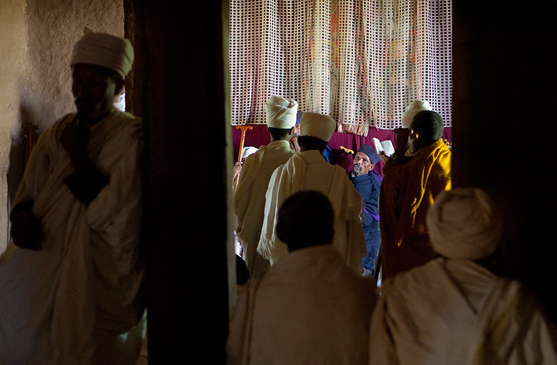 Ceremony at the Dege Estefanos Monastary - Lake Tana