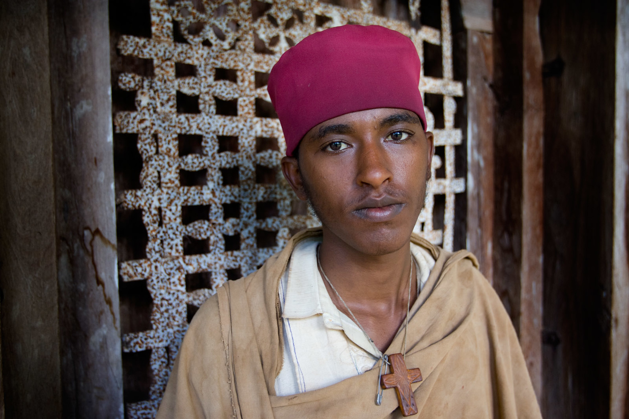 Caretaker at the Kebran Gabriel Monastery - Lake Tana