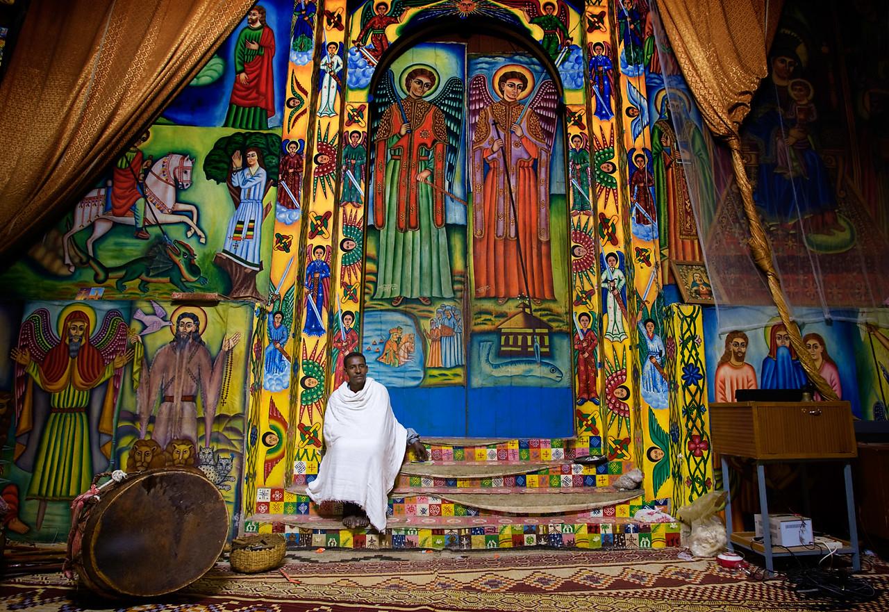 Inside the Kuskuam royal compound - Gonder
