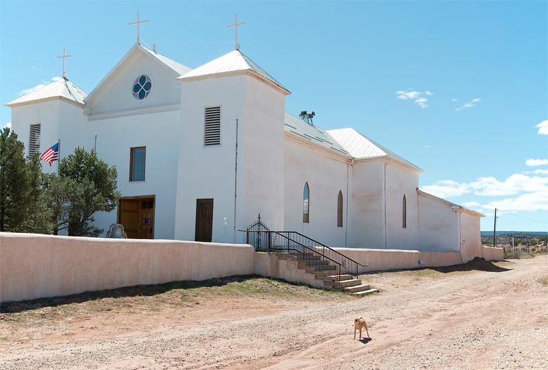 Church & Barking Dog, New Mexico
