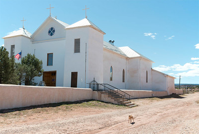 Church & Barking Dog, New Mexico