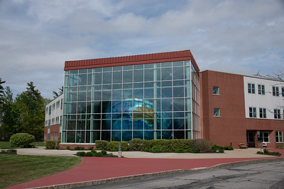 Eartha, the largest globe in the world in Garmin's Global village, their world headquarters. Yarmouth, Maine.