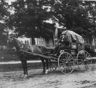 Elder Henry Green, 1915, as the traveling rep for the Shakers in Alfred, Maine to NH and southern Maine.