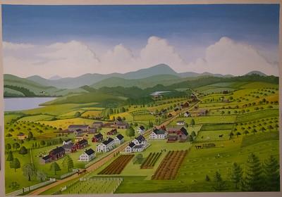 Shaker Village ca. 1875, Alfred, ME