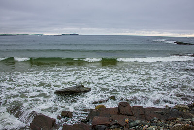 Prouts Neck, ME. Absent any surfers on these tiny waves.