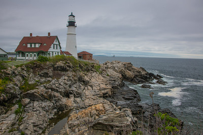 """The Cape Elizabeth, ME """"light"""" was commissioned by General G. Washington, then President, in 1790. Portland Head manned on 1/10/1791."""