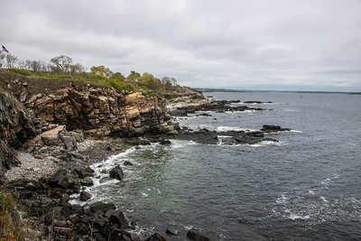 A portion of the Maine coastline which, if stretched out, would be 3478 miles long.