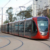 A pair of Alstom Citadis trams head for Sidi Moumen-Terminus in Casablanca on the 30th December 2012.