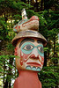 Details of Man wearing Bear Hat pole, a Tlingit grave marker at Totem Bight State Historical Park