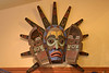 A transformation mask at the gift shop at Totem Bight State Historical Park