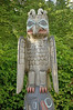 Thuderbird and Whale Haida mortuary pole at Totem Bight State Historical Park