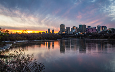 Fire over the North Saskatchewan