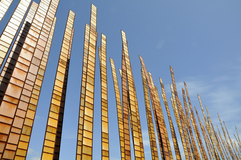 Kinetic Sculpture outside the Experience Music Project at the Seattle Center