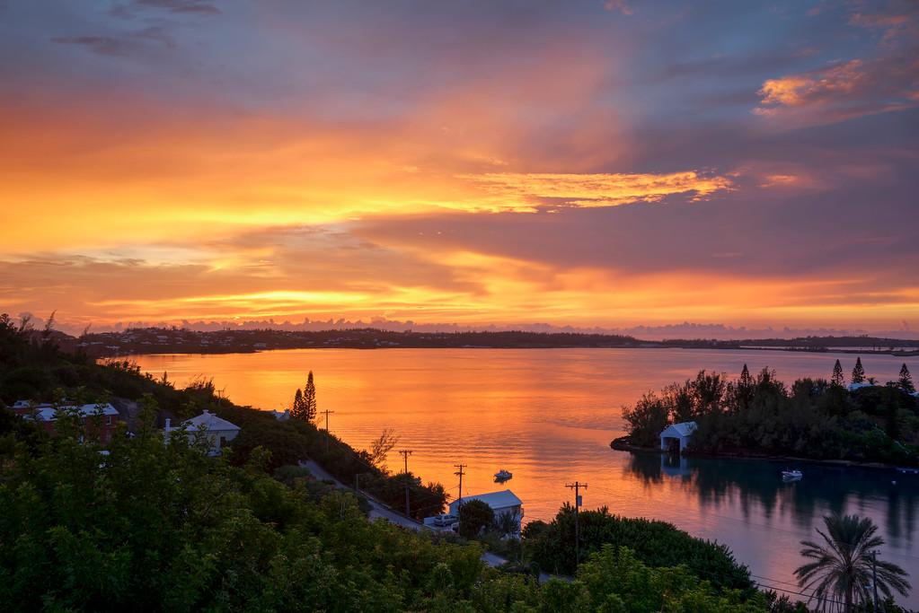 little sound five star island bermuda sunset