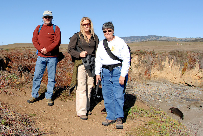 Pausing for a photo op, Bruce, Ronda & Irene