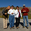 Ronda, Irene, Jo & Bruce, stuffing their faces before launching on a hike to see Elephant Seals