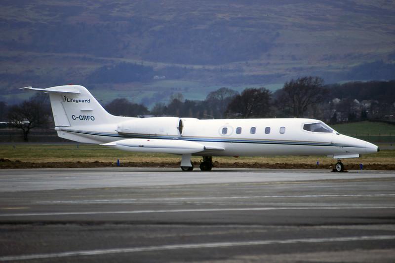C-GRFO Learjet 35A c/n 35-100 Glasgow/EGPF/GLA 06-04-95 (35mm slide)