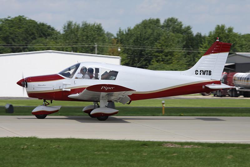 """CF-WTB """"C-FWTB"""" Piper PA-28-140 Cherokee c/n 28-24259 Oshkosh/KOSH/OSH 28-07-10"""