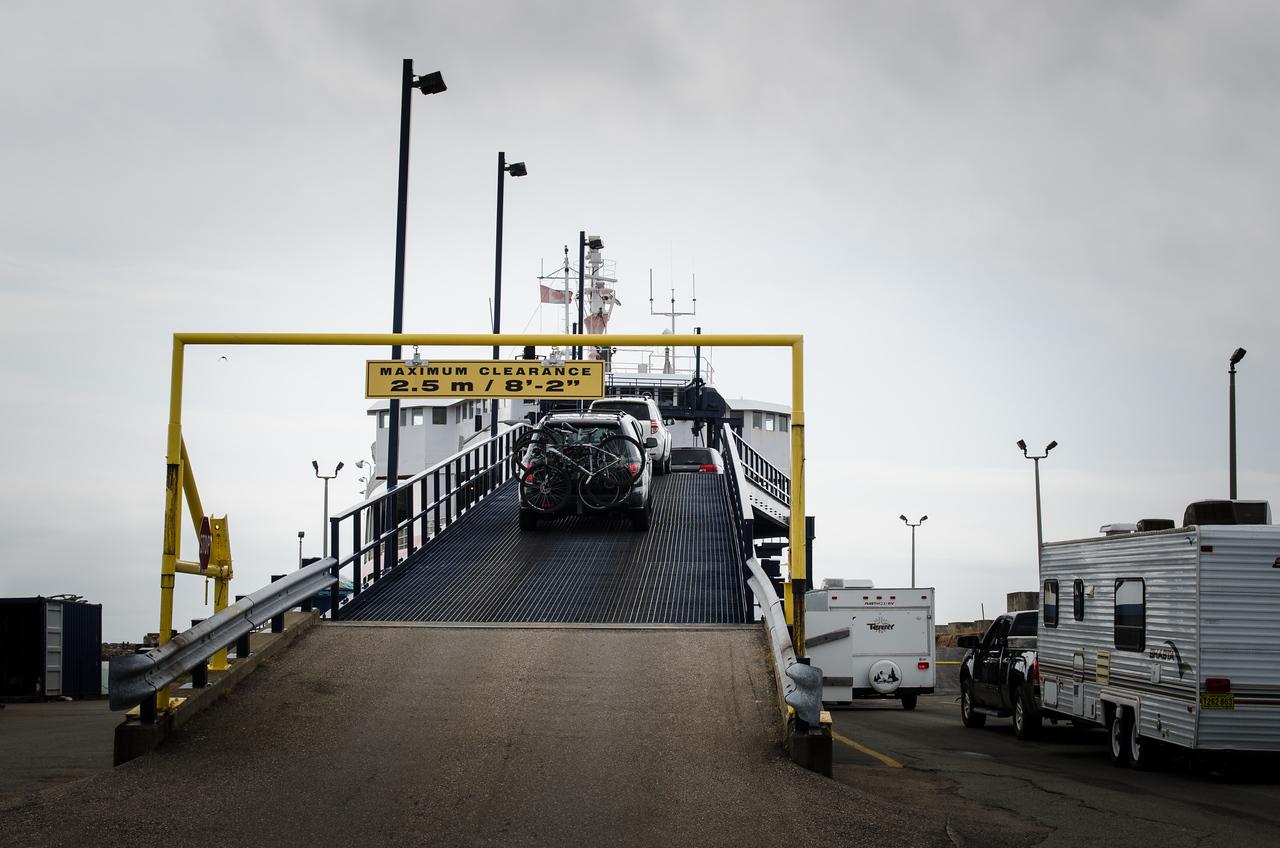 Boarding the ferry in Woods Island, headed to Nova Scotia.
